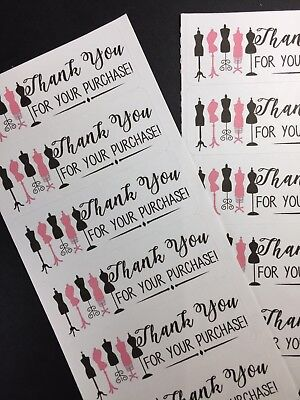 50 Fashion   Thank You Stickers