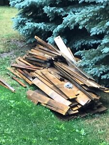 Free wood for fencing