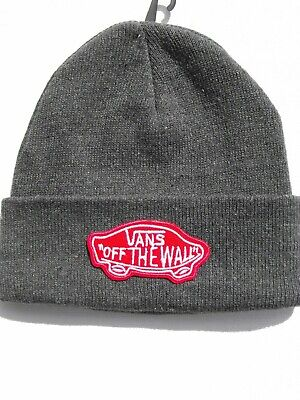 "SKATEBOARD/Hip-Hop Beanie turned up Unisex HAT+ ""VANS-OTW"" RED Embroidered Patch"