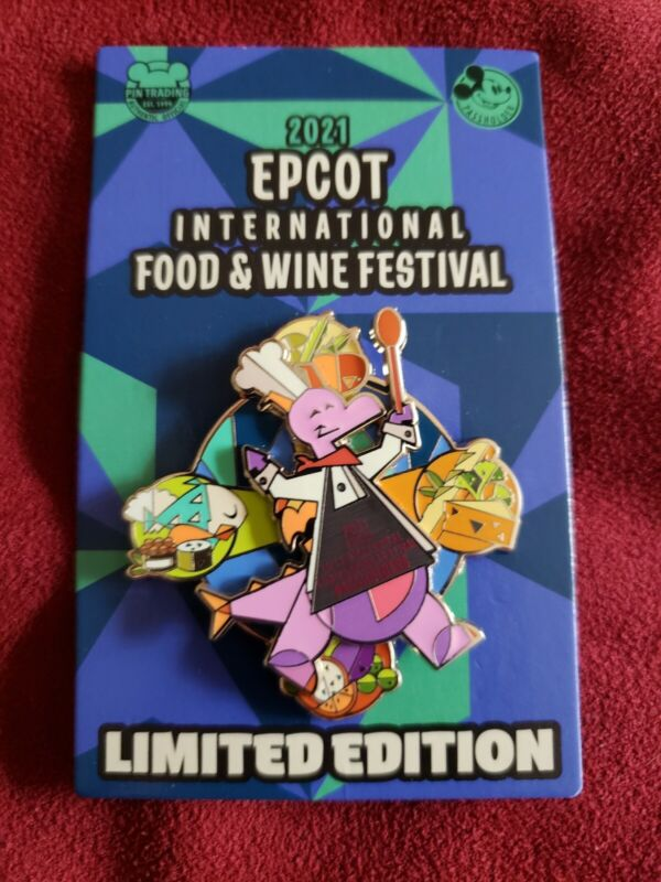 Disney 2021 Epcot Food and Wine Figment LE Passholder Pin