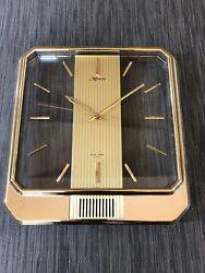 Vintage MARCEL Hour Strike chime Quartz see-thru wall clock. Japan NICE! Tested!