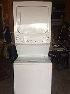 Stacking washer and dryer- GE