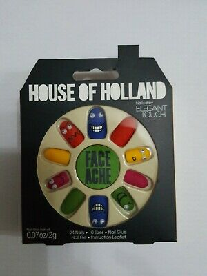 House of Holland False nails Face Ache Rare design by Elegant Touch