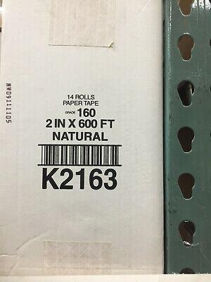 14x 2 X 600ft Rolls Intertape Paper Tape K2163 160 Grade Box Sealing