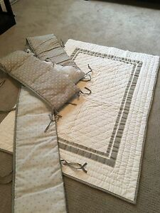 Crib bumper pads and comforter