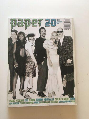PAPER Magazine 20th Anniversary Iss. BJORK John Waters Chloe Sonic Youth Eve OOP