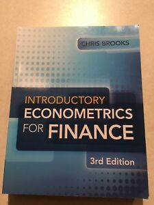 Introductory Econometrics for Finance 3rd Edition a