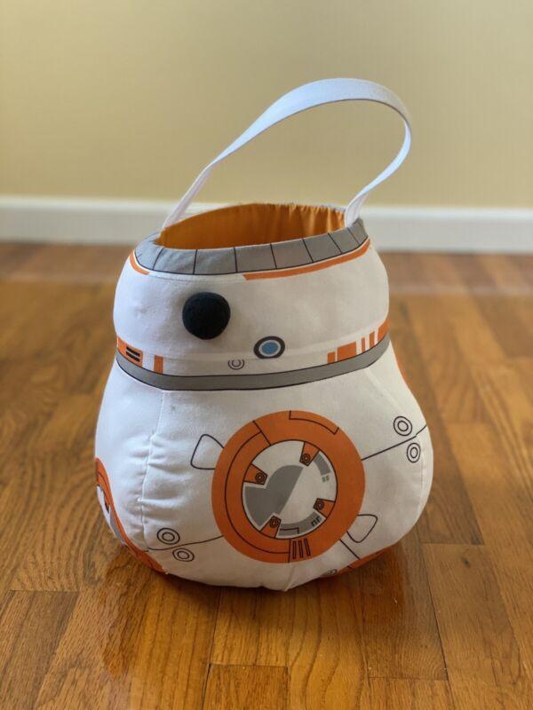 EUC Star Wars BB-8 Jumbo Plush Tote Basket Bucket Halloween Easter Costume Boy