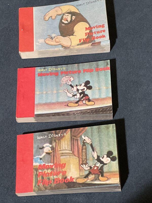 Walt Disney Moving Picture Flipbook: 3 FLIPBOOKS! Made Hong Kong