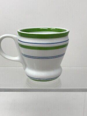 Starbucks 2007 Green and Blue Striped Espresso Cup 3 oz