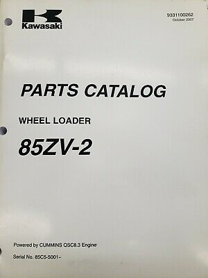 Kawasaki Wheel Loader Parts Manuals. New 70zv-2 85zv-2 90zv-2.