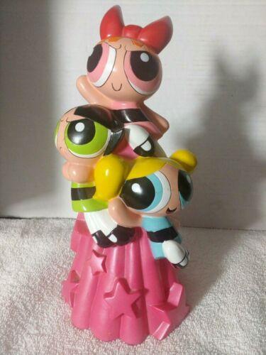 "Power Puff Girls Statue Bank 10"" Vintage 2000 RARE"
