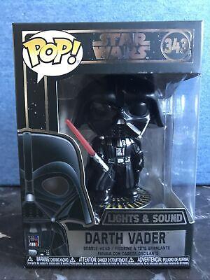 Funko Pop! Star Wars Darth Vader Electronic Lights Sound 343 Vinyl