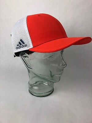RARE COLOR Adidas Golf A Stretch Tour Hat L/XL ORANGE WHITE GRAY - FSTSHP * Adidas Stretch Hat