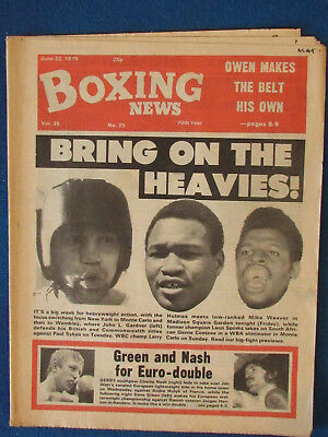 Boxing News Magazine   22 6 79   Gardner  Holmes   Spinks Cover