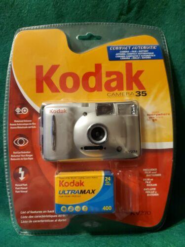 Kodak KV270 35mm Compact Automatic Camera W/ Ultramax 400 Film Roll New Blister - $14.00
