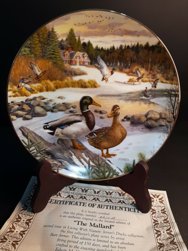 1986 Collector Plate The Mallard By Bart Jerner Knowles birds