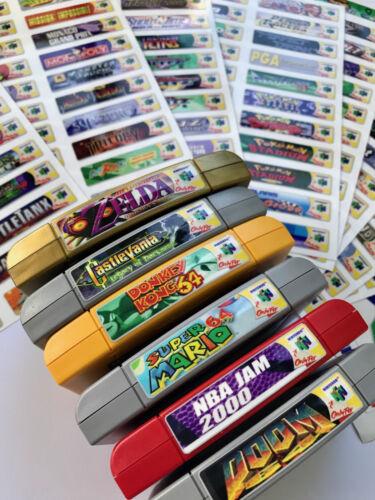 Nintendo 64 N64 Sticker Labels All 296 Custom Game Stickers + homebrews & Extras