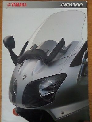 Yamaha FJR1300 Motorcycle Sales Brochure 2002