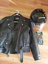 Females leather bike jacket & gloves Goolwa Alexandrina Area Preview