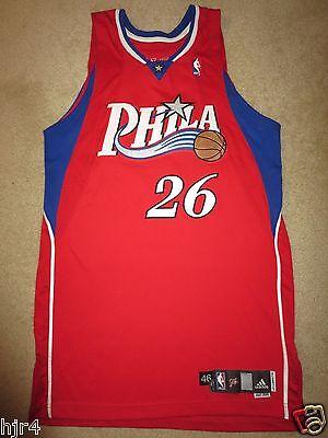897f279705b Kyle Korver  26 Philadelphia 76ers Adidas 2007 NBA Game Worn Used Jersey 46