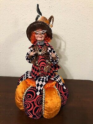 Mark Roberts Halloween Trick or Treat Cookie Jar Witch