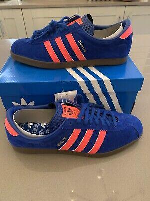 Adidas  Dublin UK11, BNIB, DEADSTOCKCOLLEGIATE ROYAL & ORANGE *RARE* *CQ1889*