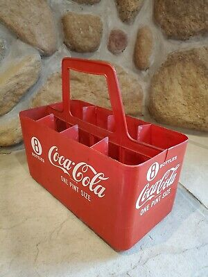 vintage plastic 8 pack Coca Cola Coke bottle carrier display case Coca-Cola