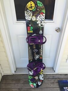 K2 Kandi 141 snowboard/Solomon Rhythm size S bindings - LIKE NEW