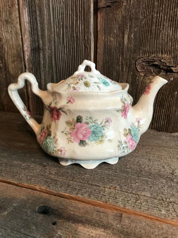 Arthur Wood Teapot Bouquet RARE find England Vintage