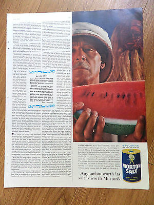 1959 Morton's Salt Ad  Watermelons