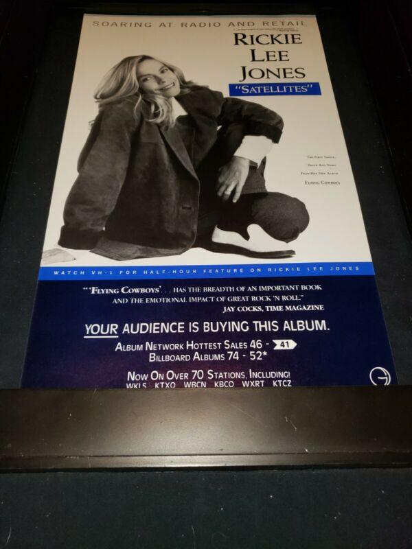 Rickie Lee Jones Satellites Rare Original Radio Promo Poster Ad Framed! #7
