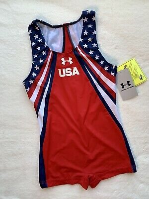 NEW Under Armour GK Leotard GYMNASTICS SINGLET UA Flag USA Men's AS adult small