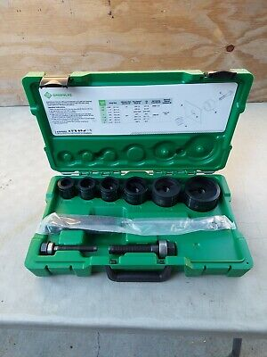 Greenlee 7238sb Slug-buster Knockout Kit With Ratchet Wrench Punch Set