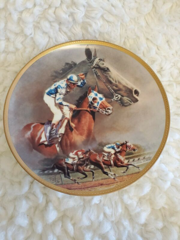 "American Artists Collectible Plate ""Alysheba"" by Fred Stone 10 1/4"