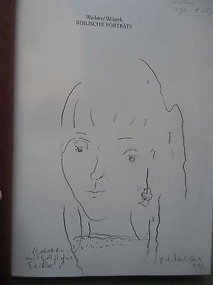 Emil Wachter Biblische Porträts 1. Aufl.1982 Signatur vom Künstler Handzeichnung