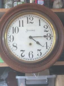 Antique sessions round school / station wall Clock