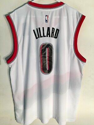 Adidas NBA Jersey Portland Trailblazers Damian Lillard White sz M