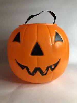 Vintage Empire Blow Mold Halloween Jack O Lantern Pumpkin Candy Bucket Pail