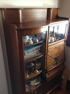 Antique Bookcase / Desk Combination