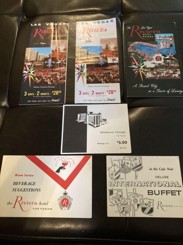 Vintage 60s Brochures Riviera Hotel Las Vegas, Plus One Post Card