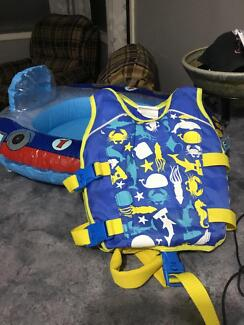 Baby float life vest & baby pool seat