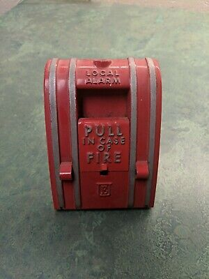 Vintage Edwards Red Fire Alarm Pull Station - Wall Mount. Fire Department