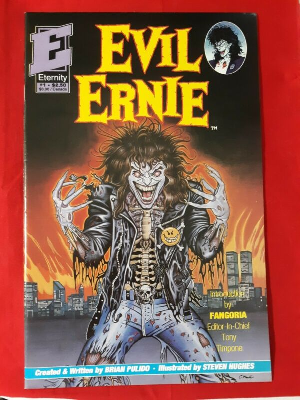 EVIL ERNIE # 1 ETERNITY 1ST APPERANCE OF EVIL ERNIE AND LADY DEATH 1992