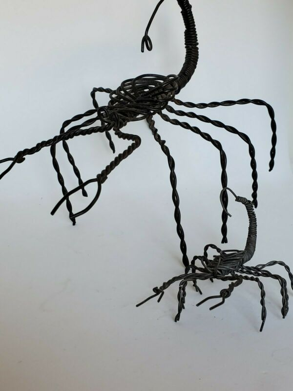 Handmade Twisted Wire Art Scorpion Figurine Sculptures