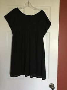 Black mini dress vintage size medium to large