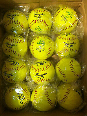 Dudley Thunder 11in 52/300 ASA Synthetic Slow Pitch Soft Ball *Dozen*