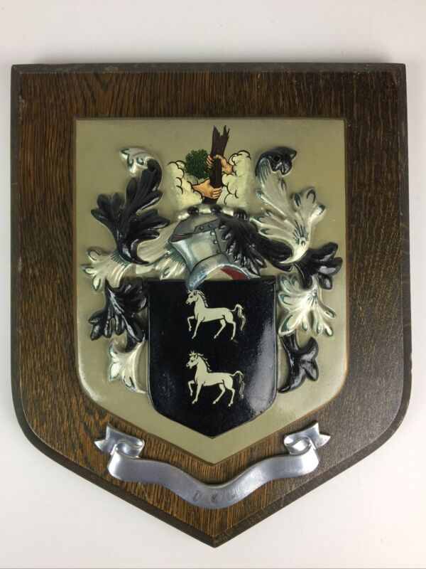 York Inisgnia family coat of arms plaque