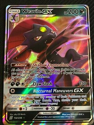 Pokemon : SM UNIFIED MINDS WEAVILE GX 132/236 ULTRA RARE