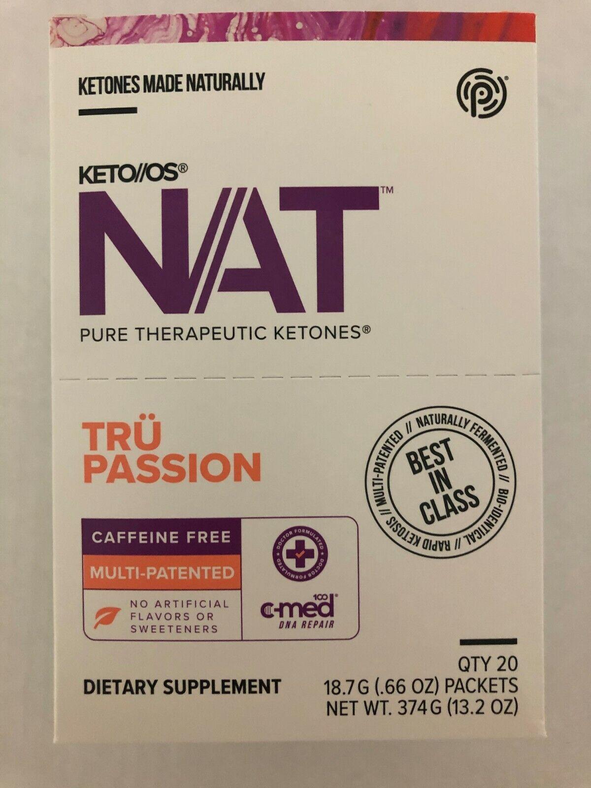 Pruvit Keto OS NAT Tru Passion 5, 10 & 20 Packs Free Shipping! 2